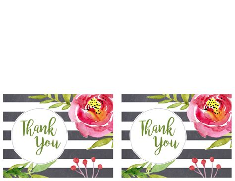 free printable birthday note cards free printable greeting cards thank you thinking of you