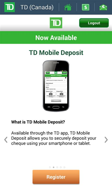 td bank check deposit app td canada trust mobile apps now allowing cheque deposits