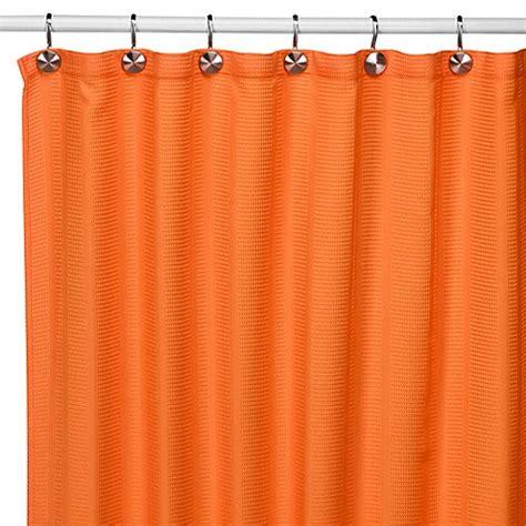orange shower curtains fabric weston orange fabric shower curtain bed bath beyond
