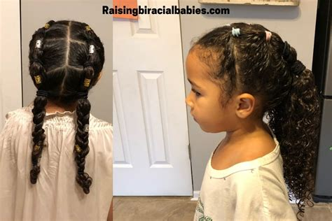 mixed girl hairstyles a cute easy style for biracial curly hair tutorial