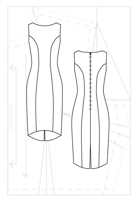 pattern for princess line dress princess line cut dress www pixshark com images
