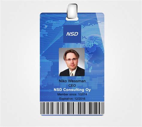 id card design for company design a company id card freelancer