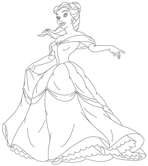 Coloring Beauty Princess Coloring Pics Color Page Princess