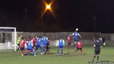 bentley penalty bbc news grays athletic manager mark bentley scores goal