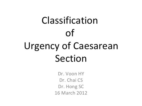 caesarean section origin classification of caesarean section