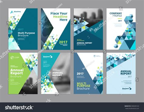 brochure design templates collection layout free vector in set modern business paper design templates stock vector