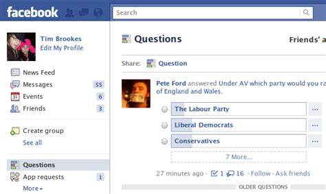 facebook friends questions images introducing facebook questions a new way to quiz your