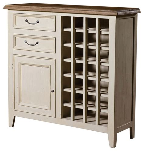 Wine Cabinet Bar Furniture by Cottage Wine Cabinet White Style Wine And Bar