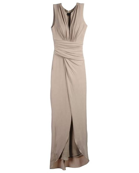 formal genial kleid lang beige design abendkleid