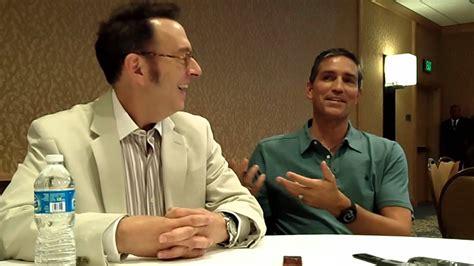 jim caviezel child interview with michael emerson jim caviezel of cbs