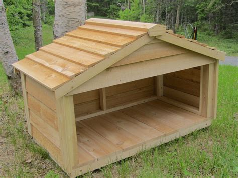 dog house food outdoor cedar cat dog rabbit feral feeding station food shelter house ebay