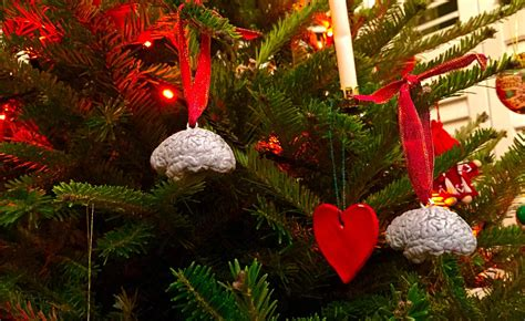 mesh christmas tree with ornaments dr su doctor decorates tree with 3d printed ornaments of his own brain the daily dot