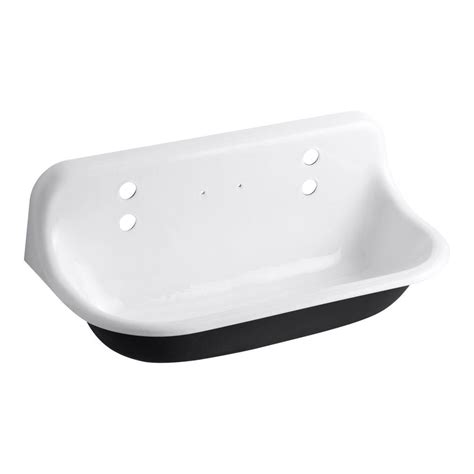 Kohler Brockway 17 5 In X 36 In Cast Iron Wall Mount