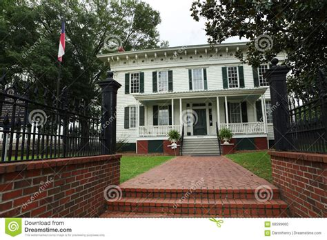 first white house first white house of the confederacy montgomery al editorial image image 68599660