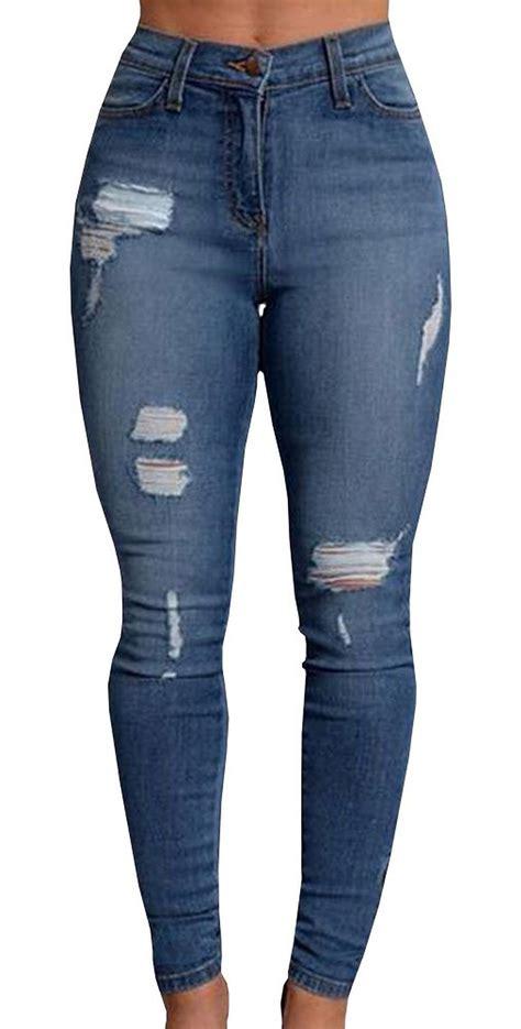 Flannel Duvet Pxmoda Women S New Denim Stretch Jeans Skinny Ripped