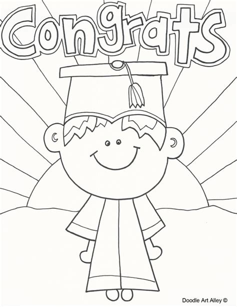 coloring pages for preschool graduation graduation coloring pages and printables classroom doodles