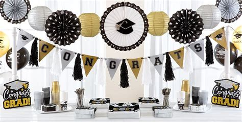 Black Gold Silver Decorations by Black Gold Silver Graduation Decorations Graduation City