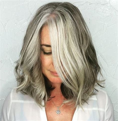 shoulder length hairstyles gray hair 60 gorgeous hairstyles for gray hair
