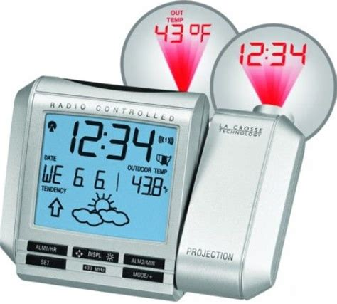 Alarm Clock Projects Time On Ceiling by La Crosse Wt 5432twc Projection Alarm Clock With Forecast