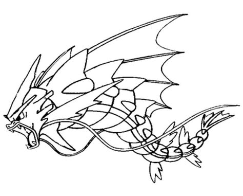 pokemon coloring pages gyarados pokemon gyarados coloring pages sketch coloring page