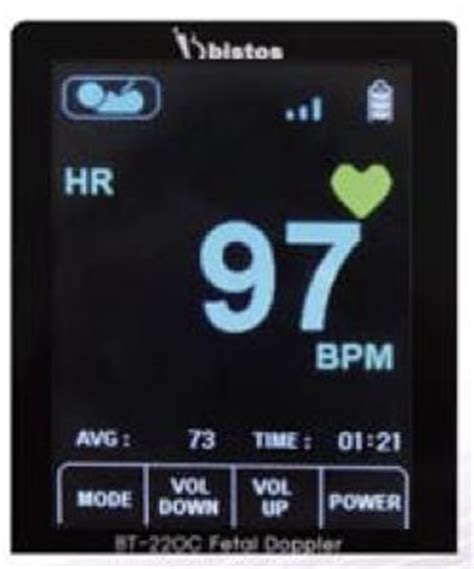 Fetal Doppler Hi Bebe Bistos Sound bt 220 hi bebe fetal doppler color display