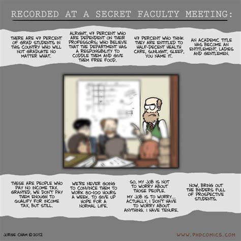 phd comics advisor meeting phd comics secret faculty meeting