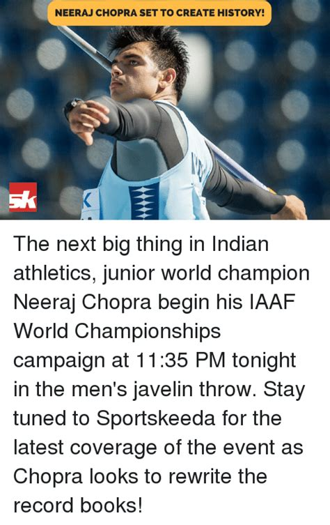 Are You The Next Big Junior by Neeraj Chopra Set To Create History The Next Big Thing In