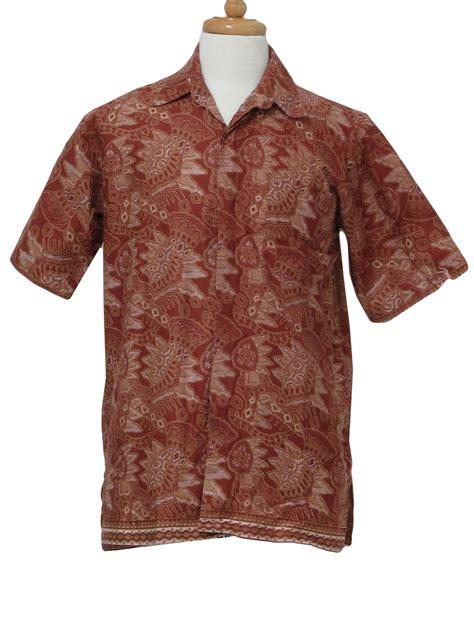 Indonesia White Shirt vintage batik asifa indonesia 80 s hippie shirt 80s