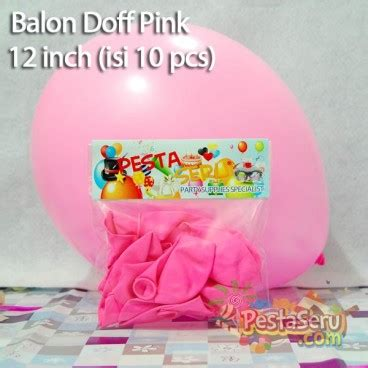 Balon Doff Pink balon doff pink 12 inch isi 10 pcs pestaseru toko grosir perlengkapan pesta