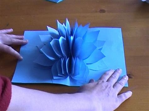 how to make pop up flowers card in paper amazing flower pop up card