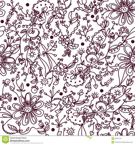 hand drawn wallpaper hand drawn floral wallpaper stock image image 20361791