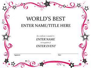 Free Award Certificate Template Word by Doc 550425 Award Template Word Award Certificate