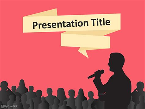 Free Speech Bubble Powerpoint Templates Myfreeppt Com Speaking Powerpoint Template