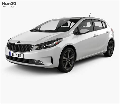 kia hatchback kia k3 5 door hatchback 2016 3d model humster3d