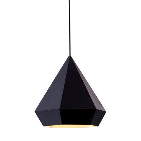 Modern Black Pendant Light Shop Zuo Modern Forecast 13 8 In Black Single Geometric Pendant At Lowes
