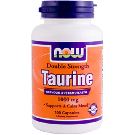 Taurine Detox by Now Foods Taurine Strength 1000 Mg 100 Capsules