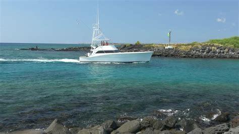 small boat fishing charter kona kailua beach footage stock clips