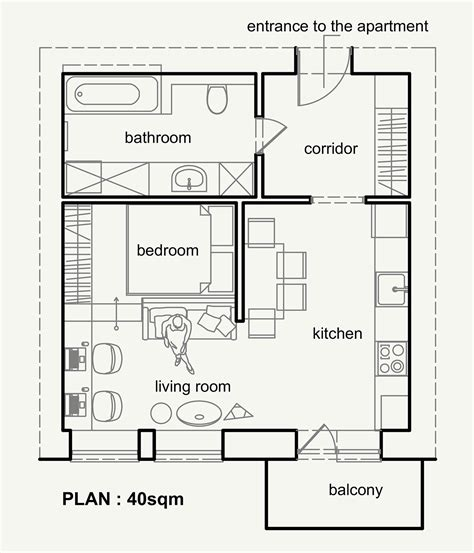 800 Sq Ft In M2 by 40 Mq Belli Funzionali E Moderni Casa It