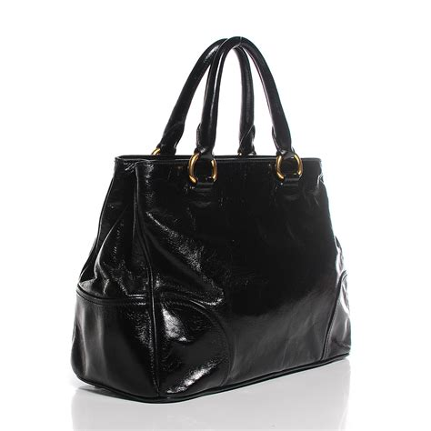 Prada Bn251 Vitello Shine Black Nero prada vitello shine tote nero black 130131