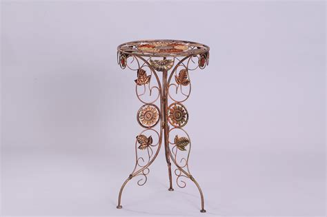 new decorative metal plant display stand iron flower