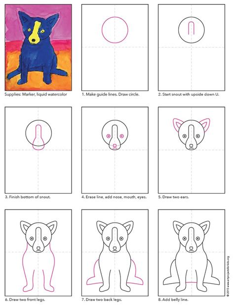 tutorial on c pdf 12 best images about blue dog art lessons on pinterest