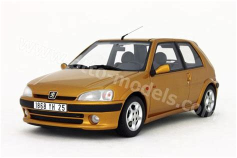 gold peugeot otto 1996 peugeot 106 s16 gold ot097 in 1 18 scale