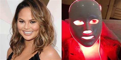 Chrissy Teigen Uses a LED Light Therapy Mask for Better Skin