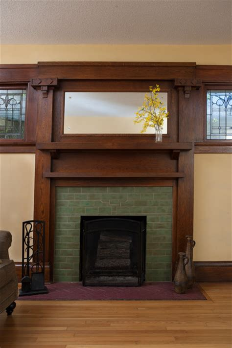 Arts And Crafts Fireplace Surround by Pesto Arts Crafts Fireplace Traditional Living Room