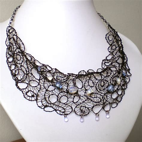 how to make lace jewelry black wire lace by blackcurrantjewelry on deviantart