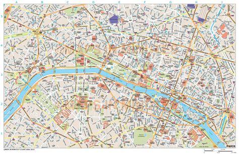 printable paris road map royalty free paris illustrator vector format city map