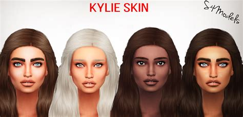 sims 4 skin kylie skin matte and highlighted s4models