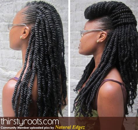 different styles for a kinky braids kinky twists and braids black hairstyles mohawks and