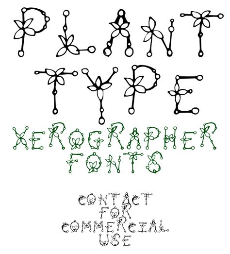 xerographer dafont plant type font dafont com