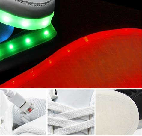 note light up shoes style 11 color changing rechargeable shoes cotton